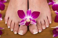 Blog & Facebook. Library Image: Feet with Flower